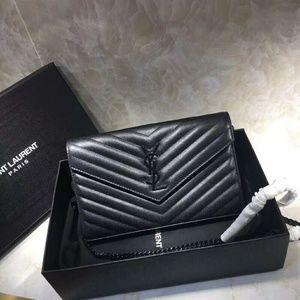 YSL Saint Laurent Black Bag Check Description